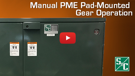 Manual PME Pad Mounted Gear Operation